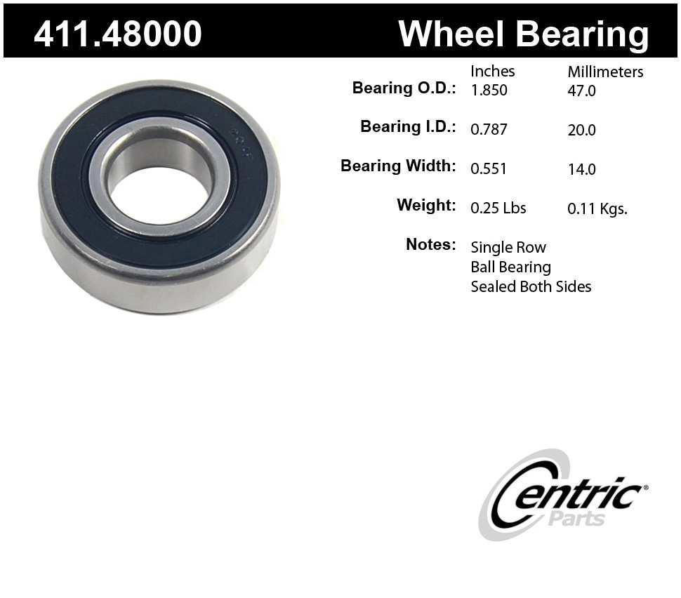 CENTRIC PARTS - Centric Premium Axle Shaft, Hub & Wheel Bearings - CEC 411.48000
