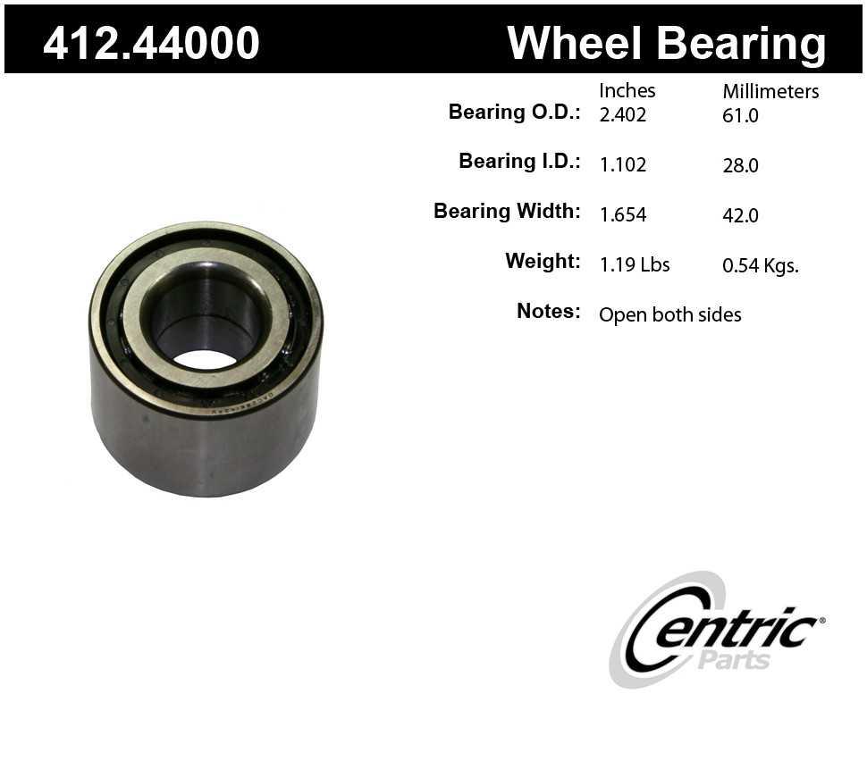 CENTRIC PARTS - Centric Premium Axle Shaft, Hub & Wheel Bearings - CEC 412.44000