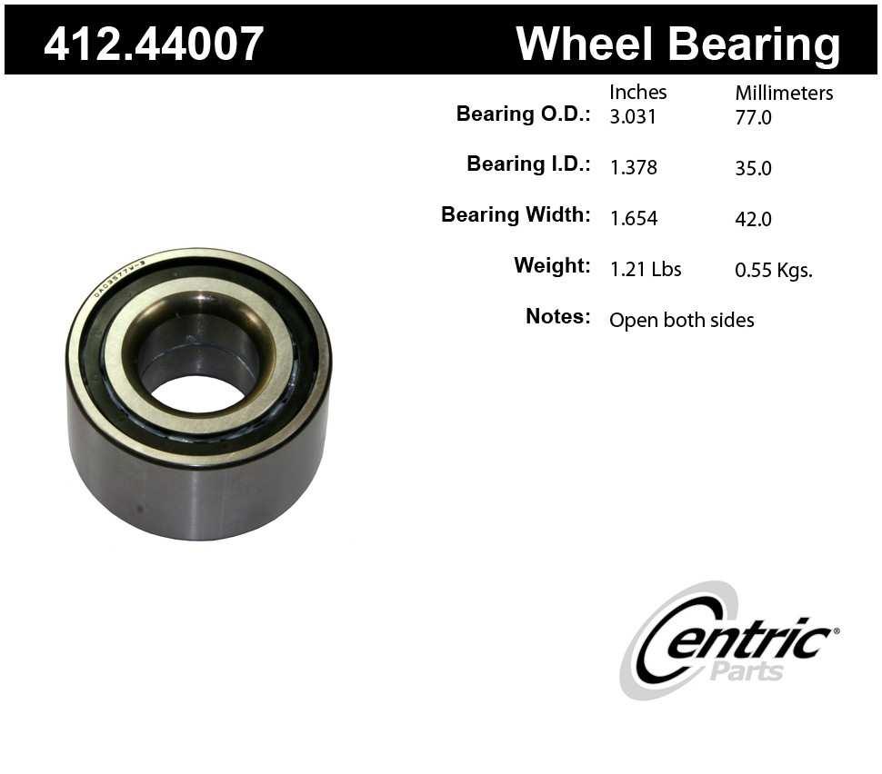 CENTRIC PARTS - Centric Premium Axle Shaft, Hub & Wheel Bearings - CEC 412.44007