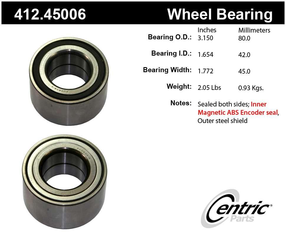 CENTRIC PARTS - Centric Premium Axle Shaft, Hub & Wheel Bearings - CEC 412.45006