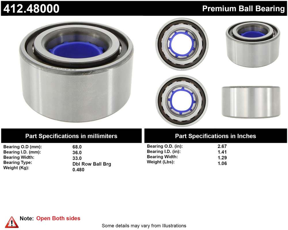 CENTRIC PARTS - Centric Premium Axle Shaft, Hub & Wheel Bearings - CEC 412.48000