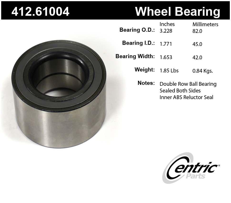 CENTRIC PARTS - Centric Premium Axle Shaft, Hub & Wheel Bearings - CEC 412.61004