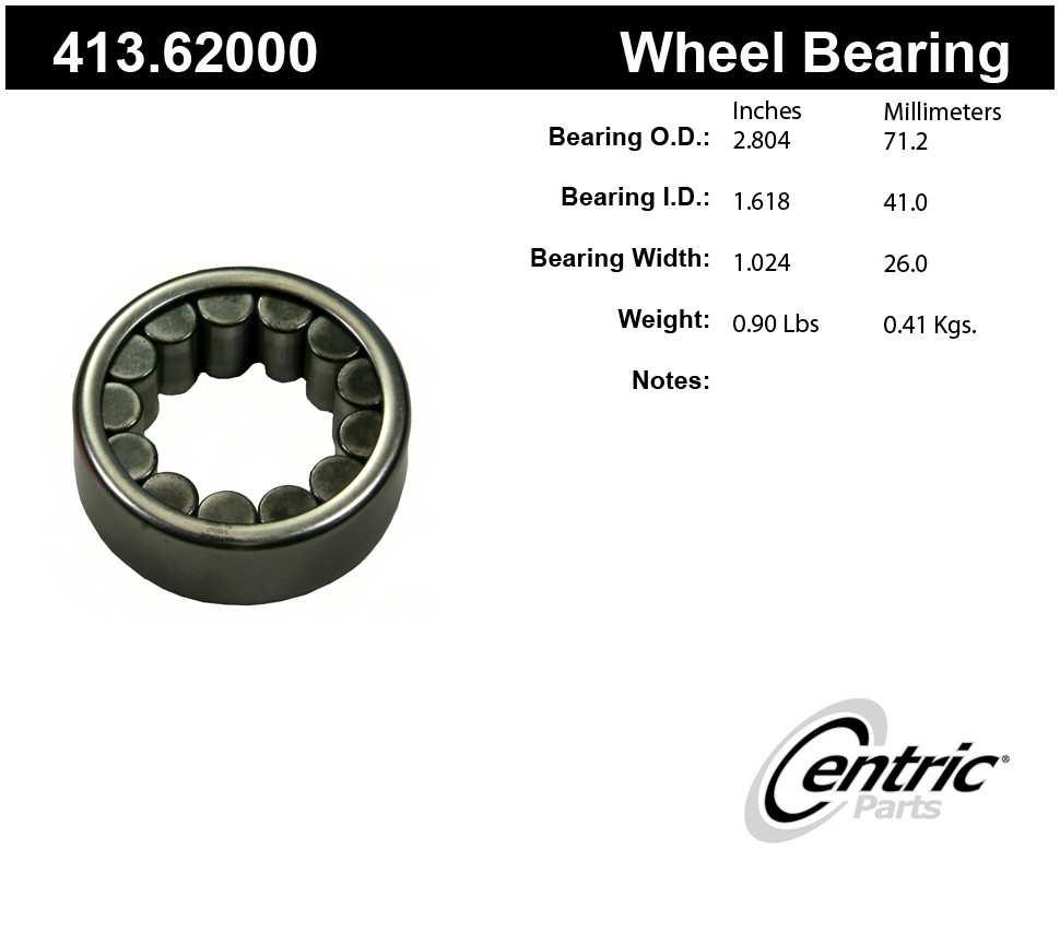 CENTRIC PARTS - Centric Premium Axle Shaft, Hub & Wheel Bearings - CEC 413.62000