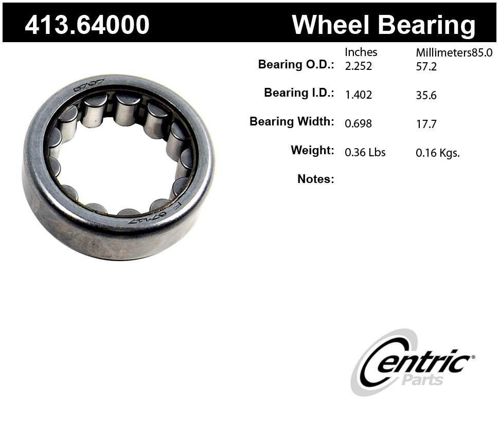 CENTRIC PARTS - Centric Premium Axle Shaft, Hub & Wheel Bearings - CEC 413.64000