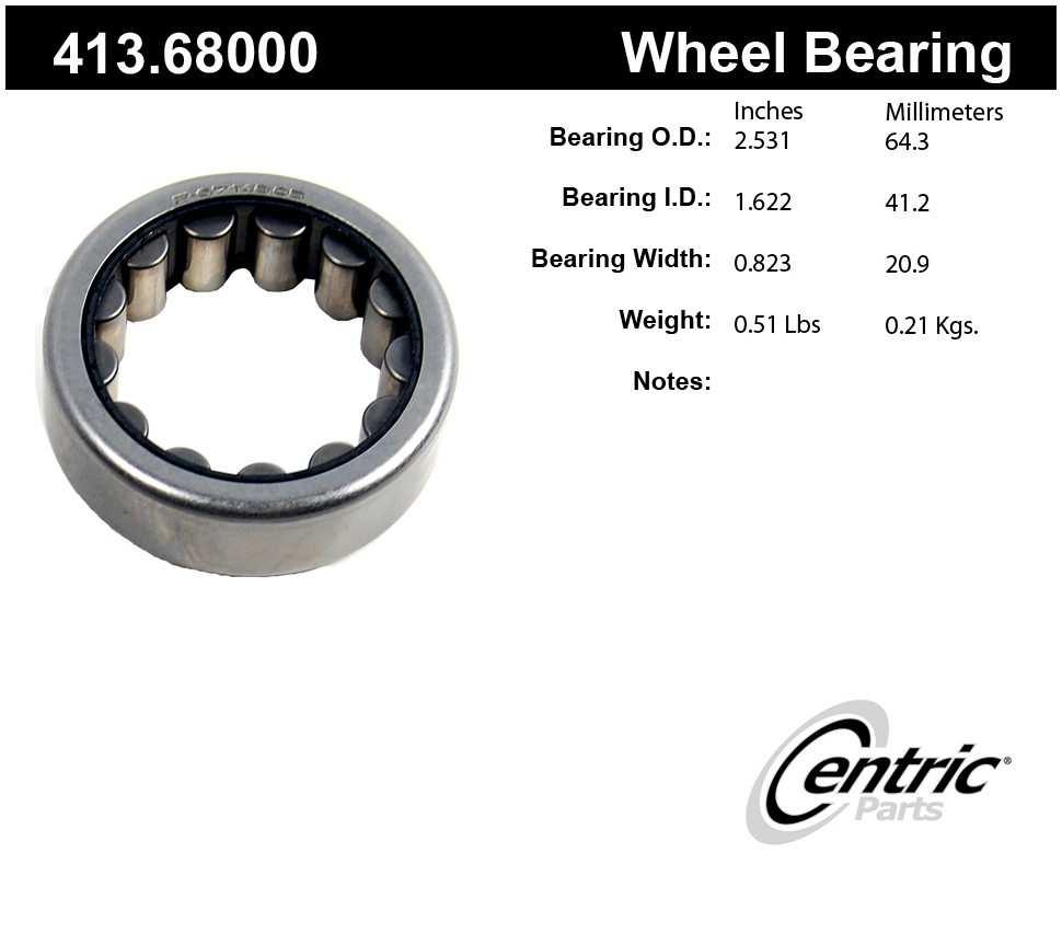 CENTRIC PARTS - Premium Axle Shaft Bearing - CEC 413.68000