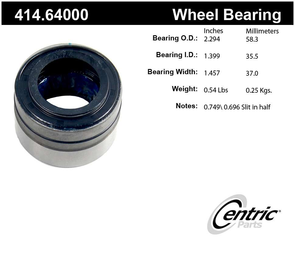 CENTRIC PARTS - Centric Premium Axle Shaft, Hub & Wheel Bearings - CEC 414.64000