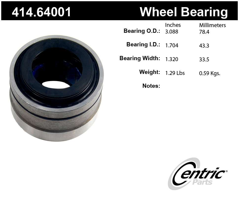CENTRIC PARTS - Axle Shaft Bearing Kit - CEC 414.64001