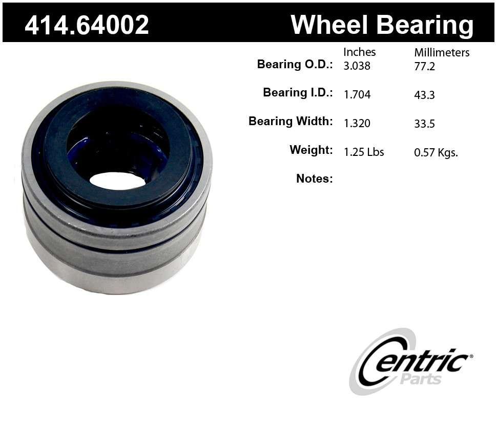 CENTRIC PARTS - Centric Premium Axle Shaft, Hub & Wheel Bearings - CEC 414.64002