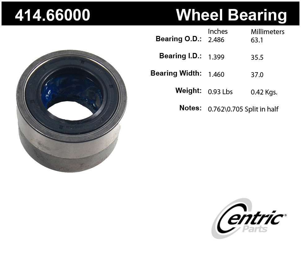 CENTRIC PARTS - Axle Shaft Bearing Kit - CEC 414.66000