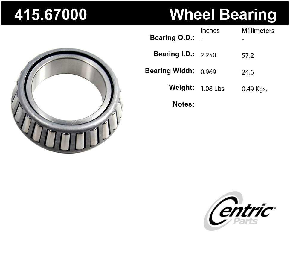 CENTRIC PARTS - Centric Premium Axle Shaft, Hub & Wheel Bearings (Rear Inner) - CEC 415.67000