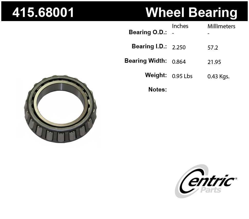 CENTRIC PARTS - Premium Bearings (Front Inner) - CEC 415.68001