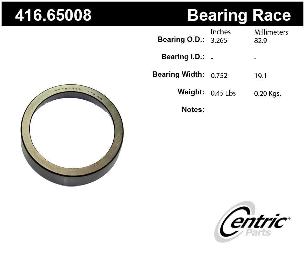 CENTRIC PARTS - Premium Wheel Race - CEC 416.65008