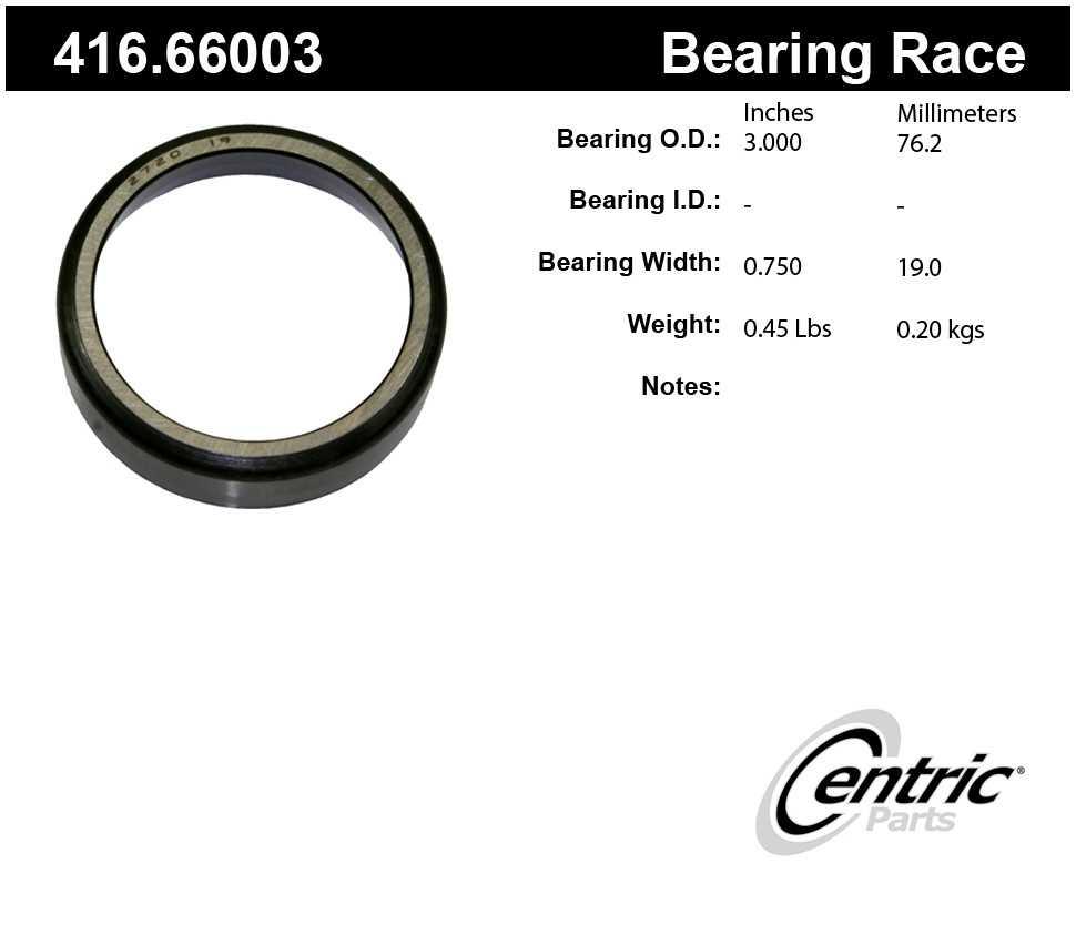 CENTRIC PARTS - Centric Premium Axle Shaft, Hub & Wheel Bearings - CEC 416.66003