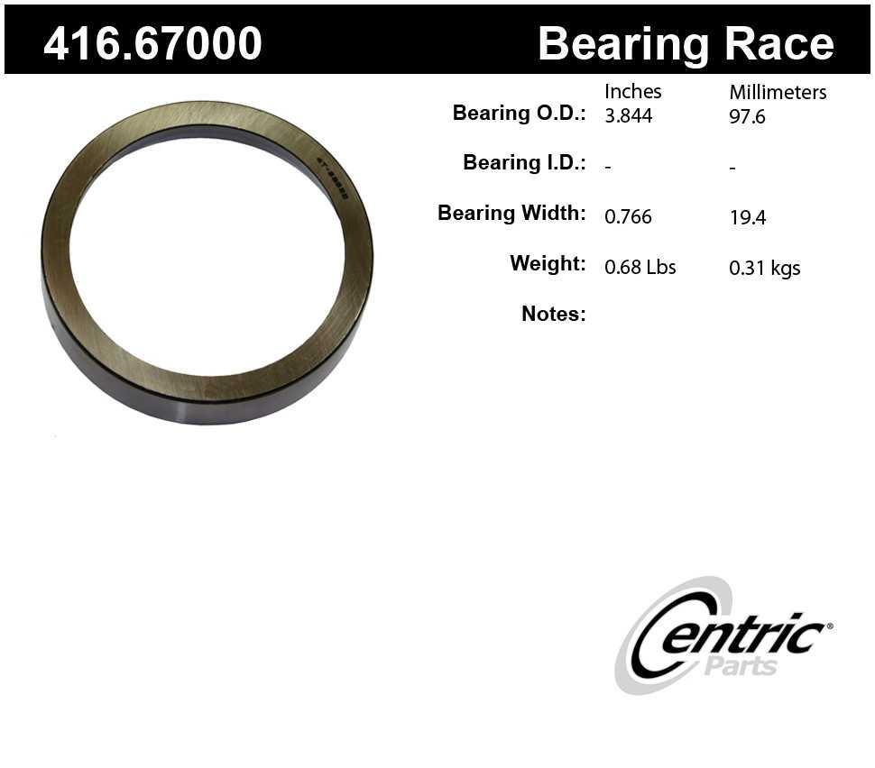 CENTRIC PARTS - Centric Premium Axle Shaft, Hub & Wheel Bearings (Rear Inner) - CEC 416.67000