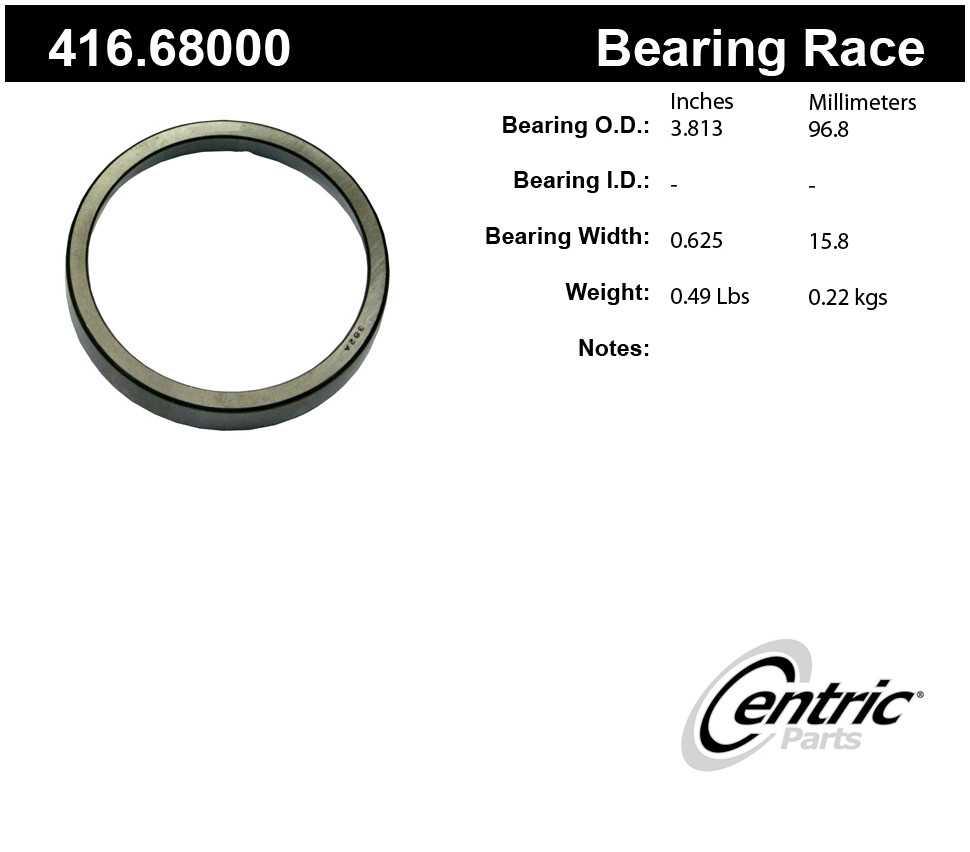 CENTRIC PARTS - Premium Wheel Race - CEC 416.68000