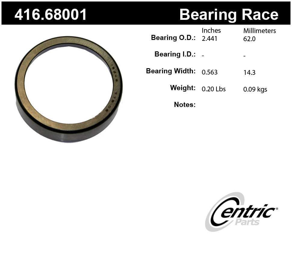 CENTRIC PARTS - Premium Wheel Race - CEC 416.68001