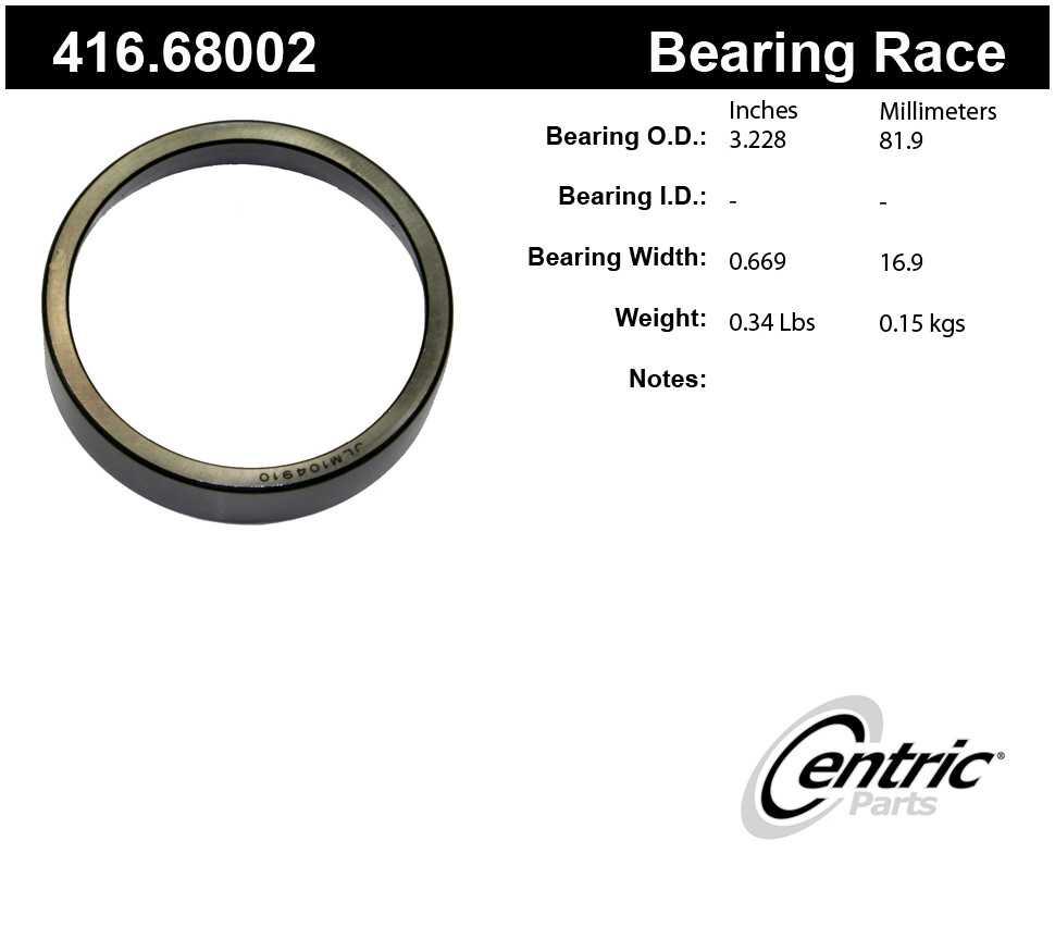 CENTRIC PARTS - Centric Premium Axle Shaft, Hub & Wheel Bearings - CEC 416.68002