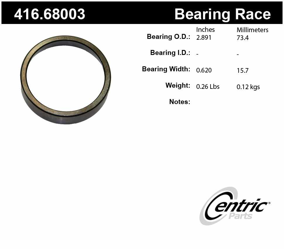 CENTRIC PARTS - Premium Wheel Race - CEC 416.68003