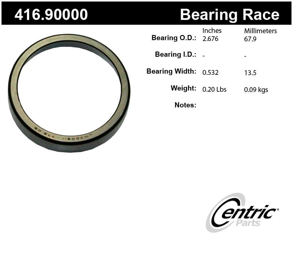 CENTRIC PARTS - Premium Bearings - CEC 416.90000