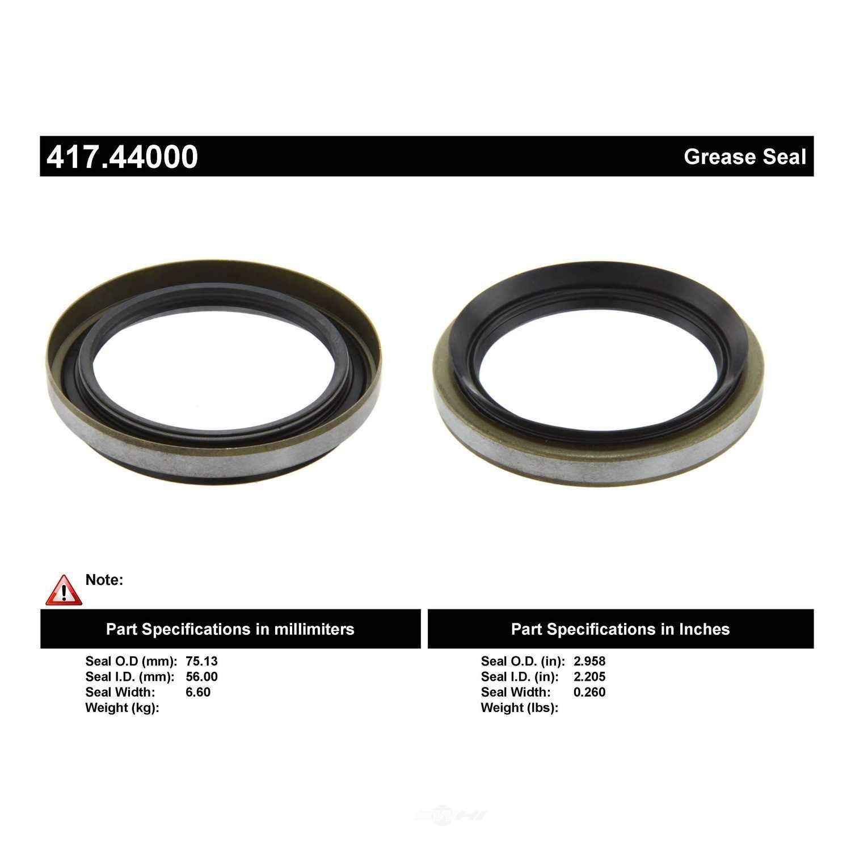 CENTRIC PARTS - Axle Shaft Seal - CEC 417.44000