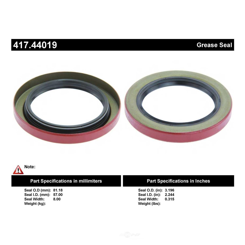 CENTRIC PARTS - Axle Shaft Seal - CEC 417.44019