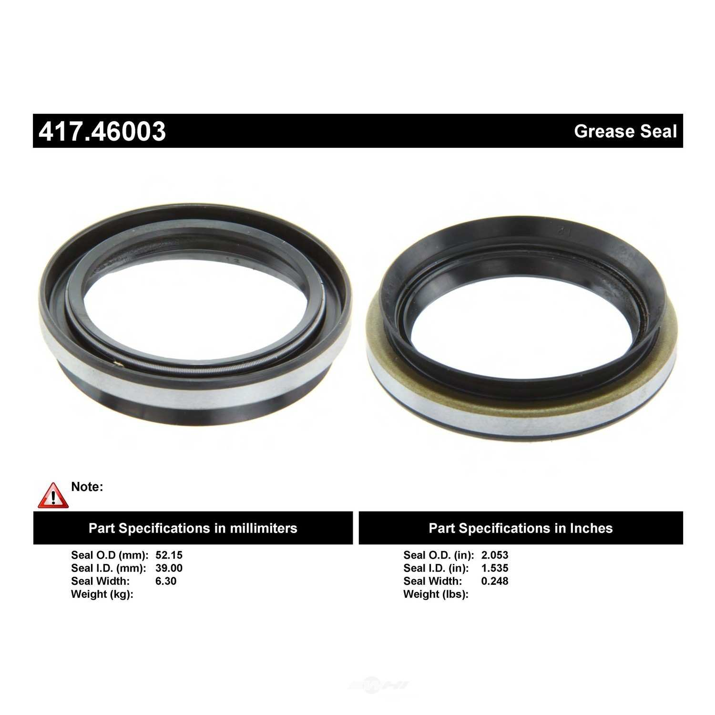 CENTRIC PARTS - Axle Shaft Seal - CEC 417.46003
