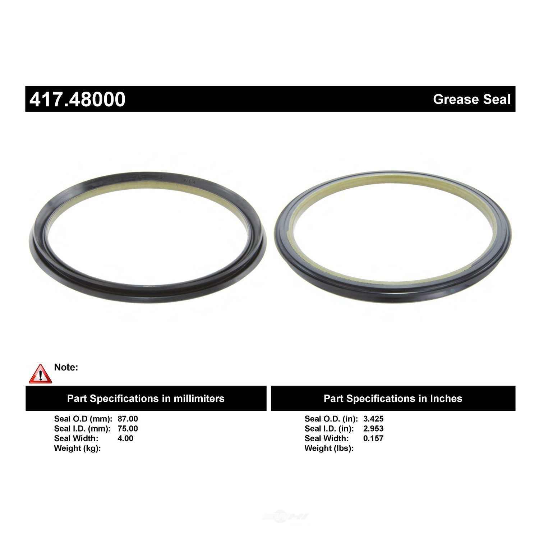 CENTRIC PARTS - Wheel Seal - CEC 417.48000