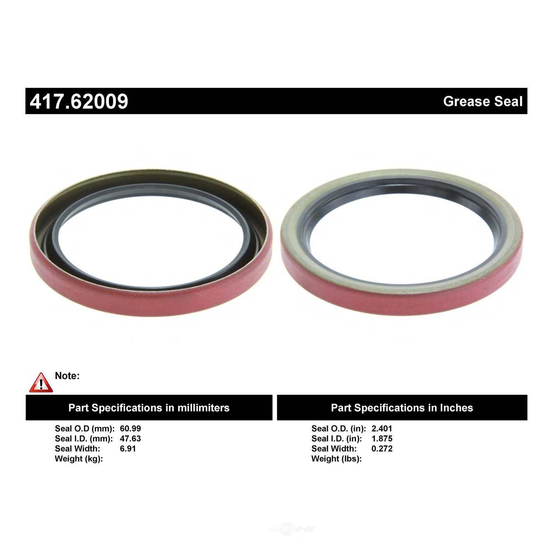 CENTRIC PARTS - Wheel Seal - CEC 417.62009