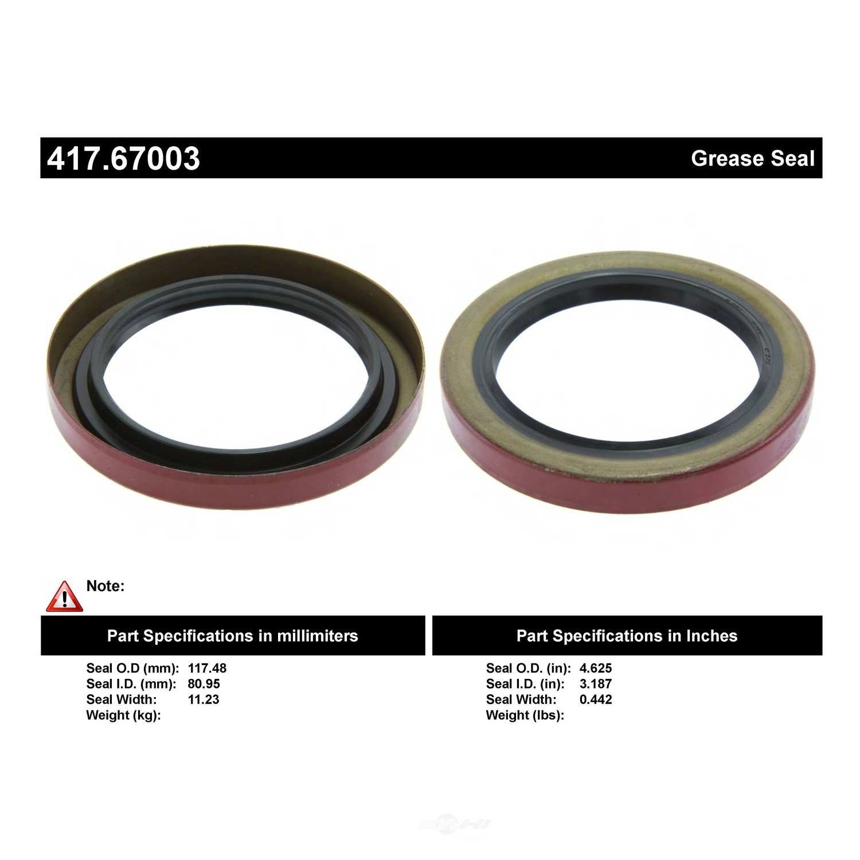 CENTRIC PARTS - Centric Premium Oil & Grease Seal - CEC 417.67003