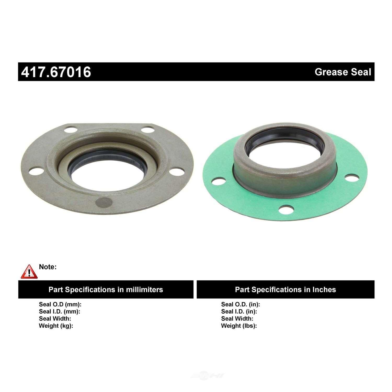 CENTRIC PARTS - Centric Premium Axle Shaft, Hub & Wheel Seals (Rear Outer) - CEC 417.67016