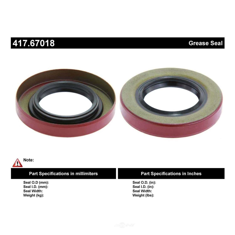 CENTRIC PARTS - Centric Premium Axle Shaft, Hub & Wheel Seals (Rear Inner) - CEC 417.67018