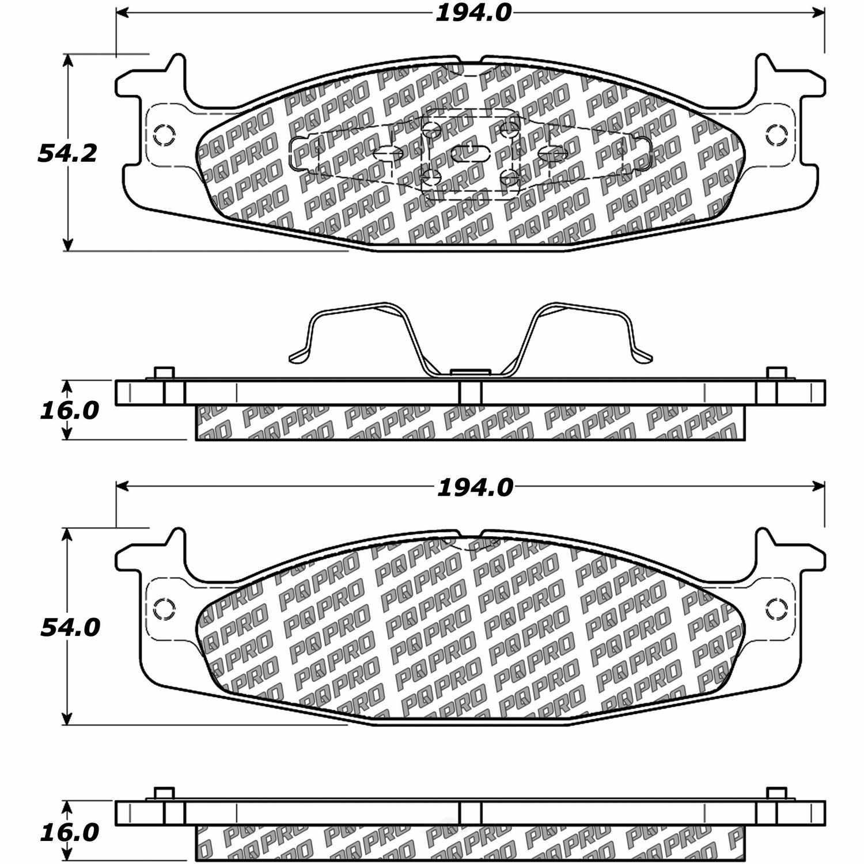 CENTRIC PARTS - Centric PQ PRO Disc Disc Brake Pad Sets (Front) - CEC 500.06320