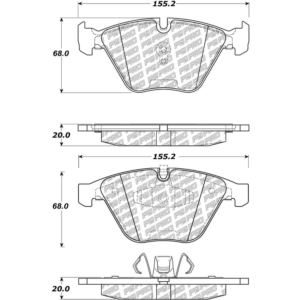 CENTRIC PARTS - Centric PQ PRO Disc Disc Brake Pad Sets (Front) - CEC 500.12600