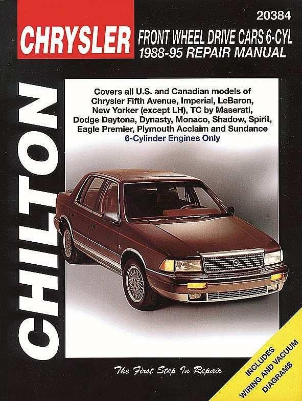 CHILTON BOOK COMPANY - Repair Manual - CHI 20384