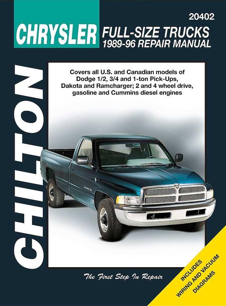CHILTON BOOK COMPANY - Repair Manual - CHI 20402