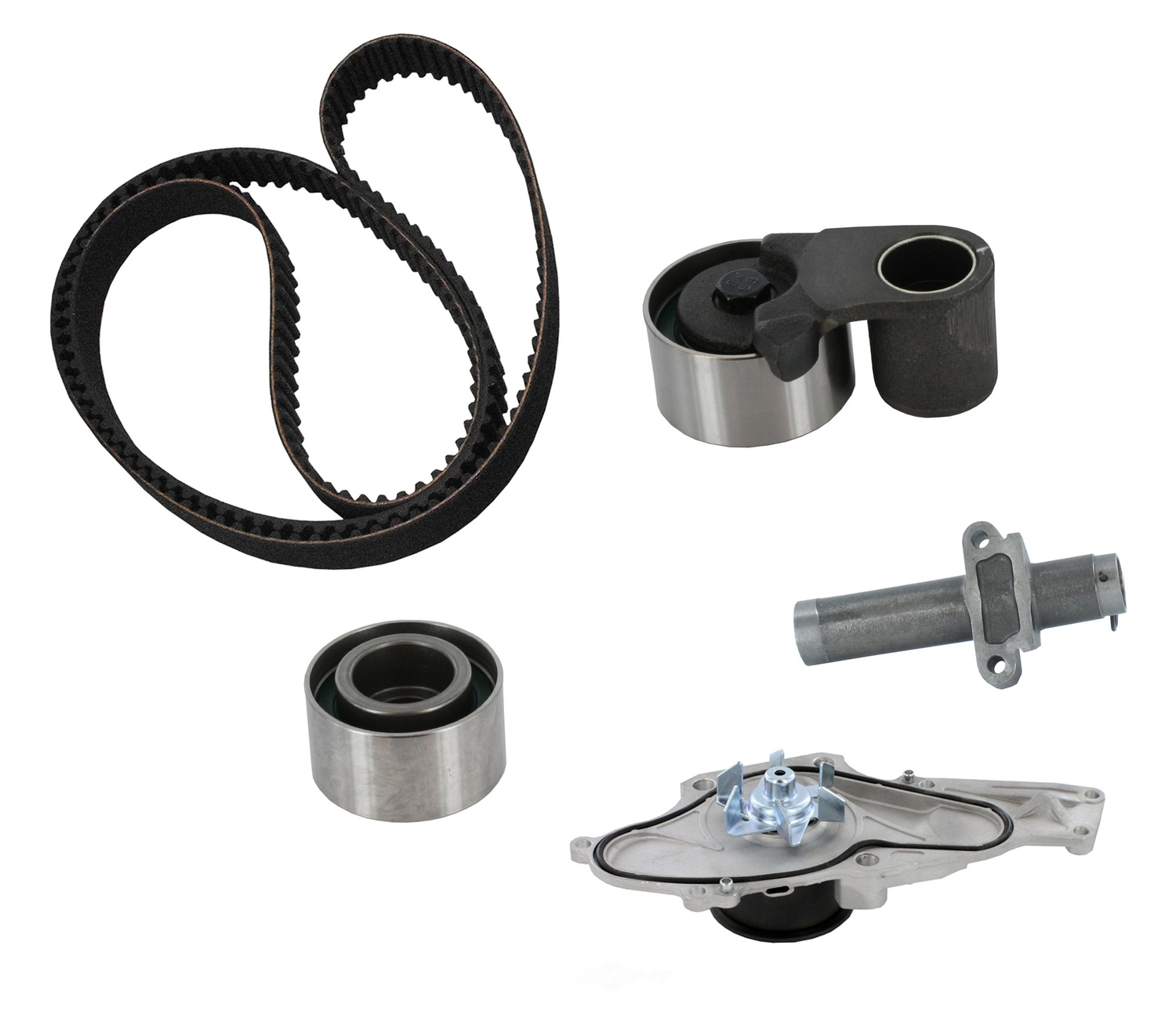 CRP/CONTITECH (INCHES) - Engine Timing Belt Kit w/Water Pump - CPE CK286LK1