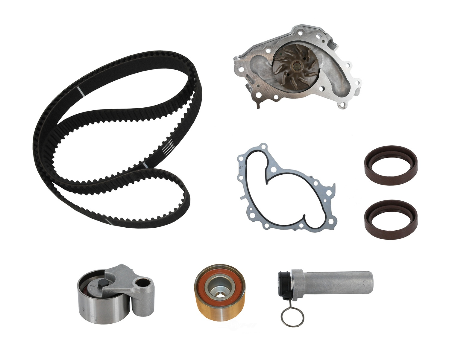 CRP/CONTITECH (METRIC-IMPORT) - Engine Timing Belt Kit with Water Pump - CPF PP257LK3