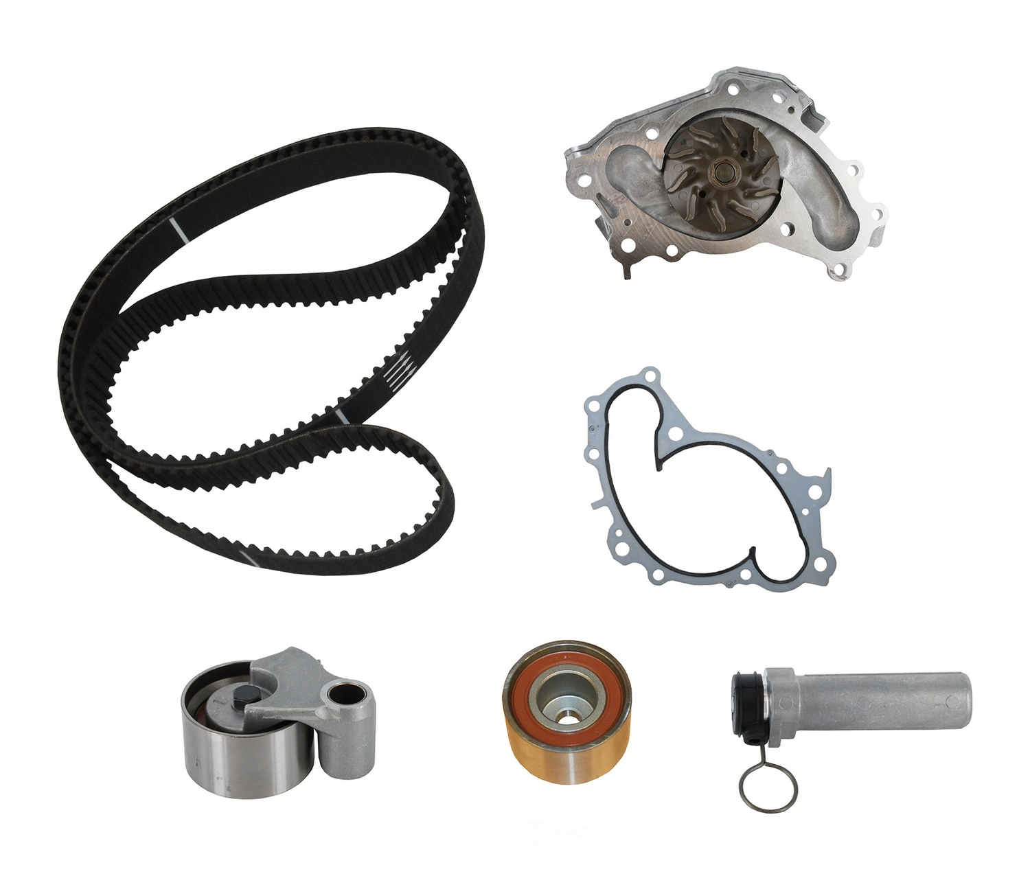 CRP/CONTITECH (METRIC-IMPORT) - Engine Timing Belt Kit with Water Pump - CPF TB257LK3