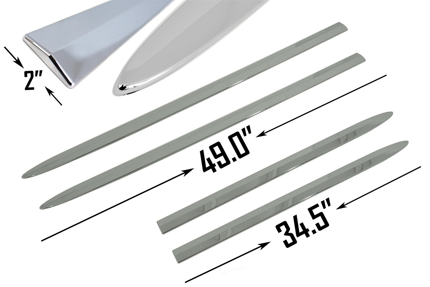 CARRICHS ACCESSORIES - Custom Fit Bodyside Molding Replacements - CRH BSFD608