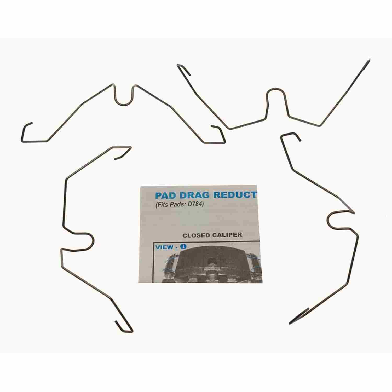 CARLSON QUALITY BRAKE PARTS - Disc Brake Pad Drag Reduction Clip (Front) - CRL 18349