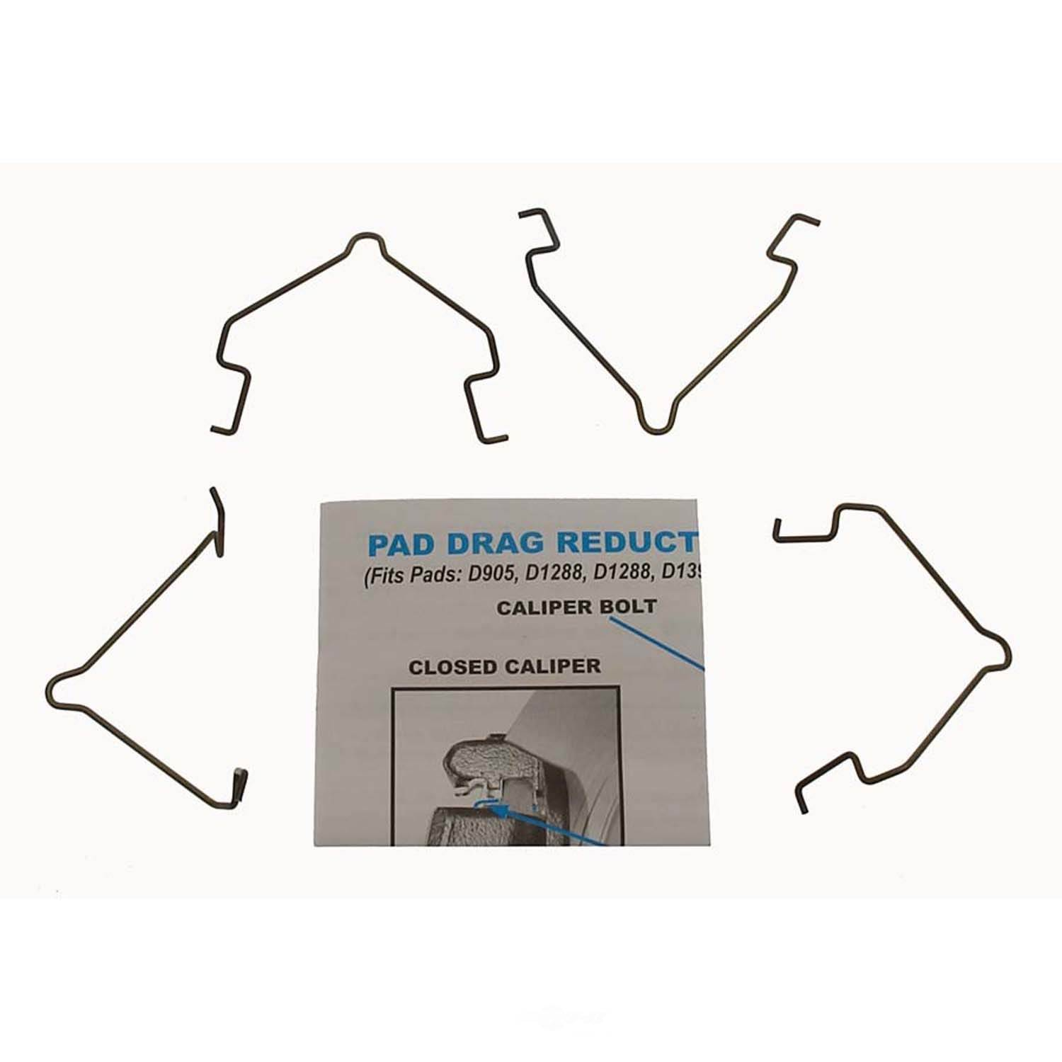 CARLSON QUALITY BRAKE PARTS - Disc Brake Pad Drag Reduction Clip (Rear) - CRL 18368