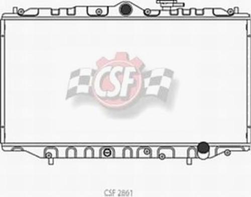 CSF RADIATOR - All Aluminum Racing - CSF 2861