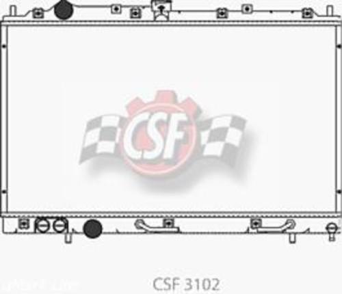 CSF RADIATOR - 1 Row Plastic Tank Aluminum Core Radiator - CSF 3102