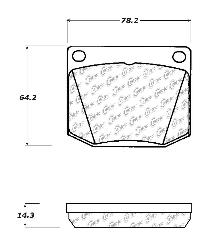 C-TEK BY CENTRIC - C-TEK Metallic Brake Pads - CTK 102.00020