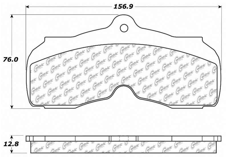 C-TEK BY CENTRIC - C-TEK Metallic Brake Pads-Preferred (Front) - CTK 102.00030