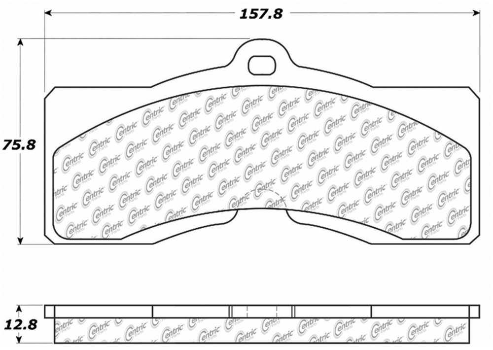 C-TEK BY CENTRIC - C-TEK Metallic Brake Pads - CTK 102.00080