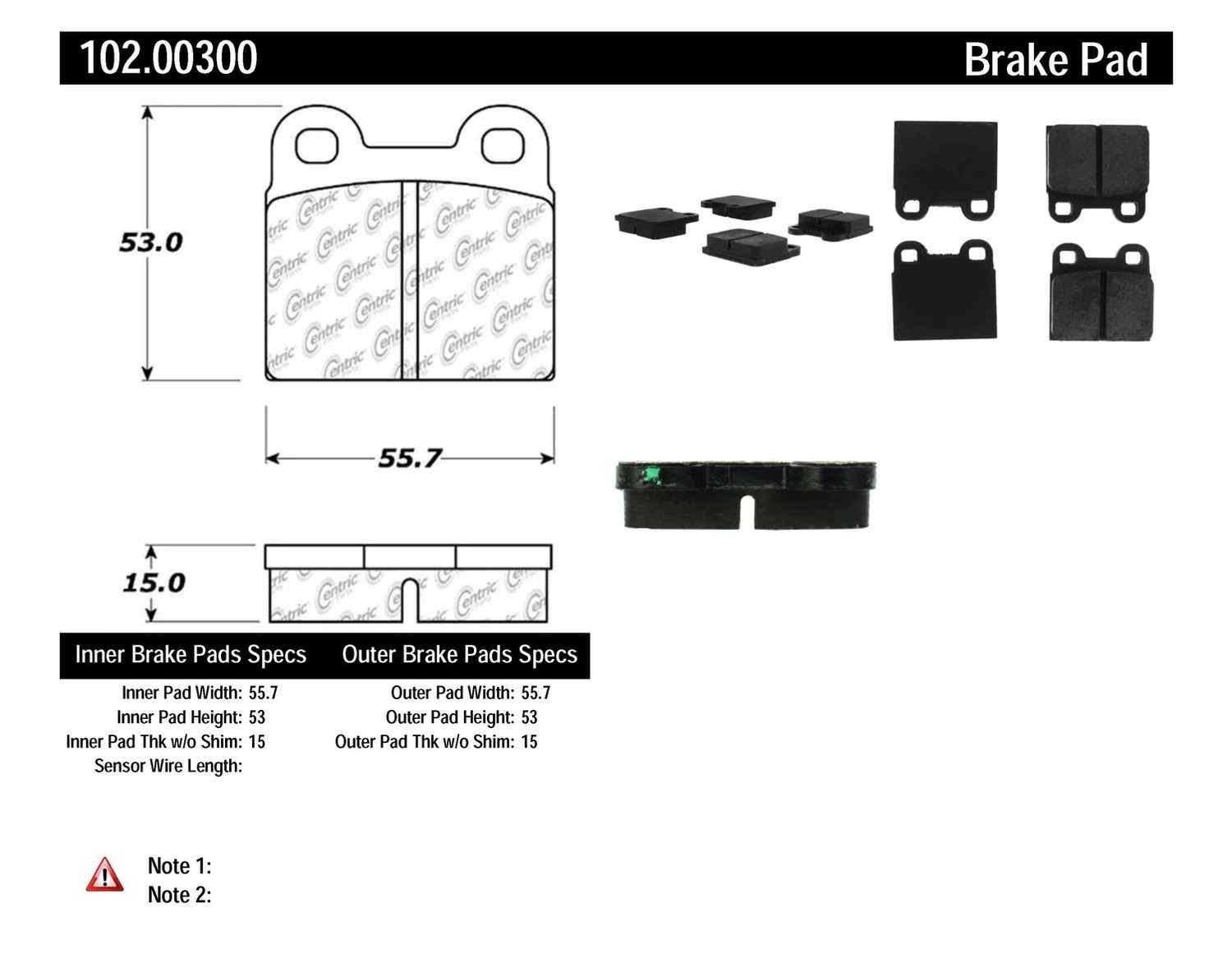 C-TEK BY CENTRIC - C-TEK Metallic Brake Pads-Preferred (Front) - CTK 102.00300