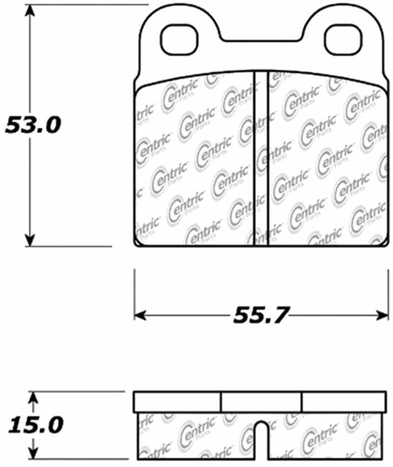 C-TEK BY CENTRIC - C-TEK Metallic Brake Pads (Rear) - CTK 102.00300