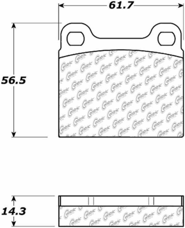 C-TEK BY CENTRIC - C-TEK Metallic Brake Pads - CTK 102.00310