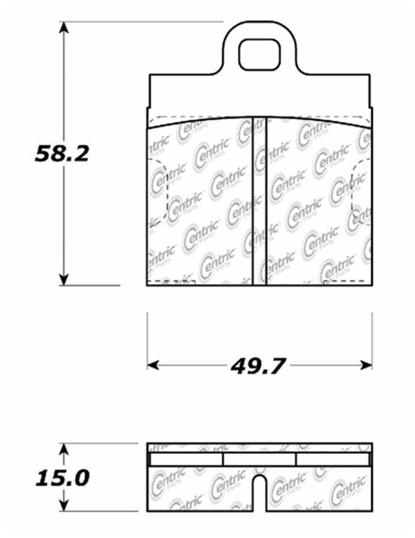 C-TEK BY CENTRIC - C-TEK Metallic Brake Pads-Preferred (Front) - CTK 102.00400